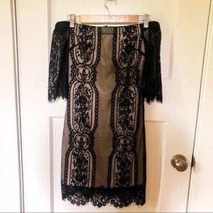 Off the Shoulder Black Lace Dress